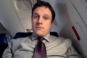 I don't usually post selfies, but when I do it's from 30,000 feet.
