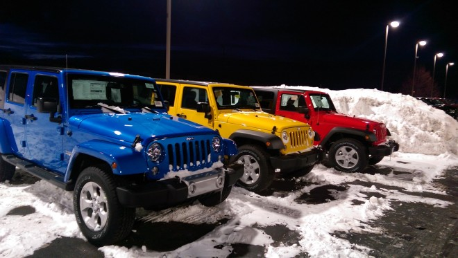 This is a perfect example of how True White in Cree's Edge HO area light made these Jeeps pop.